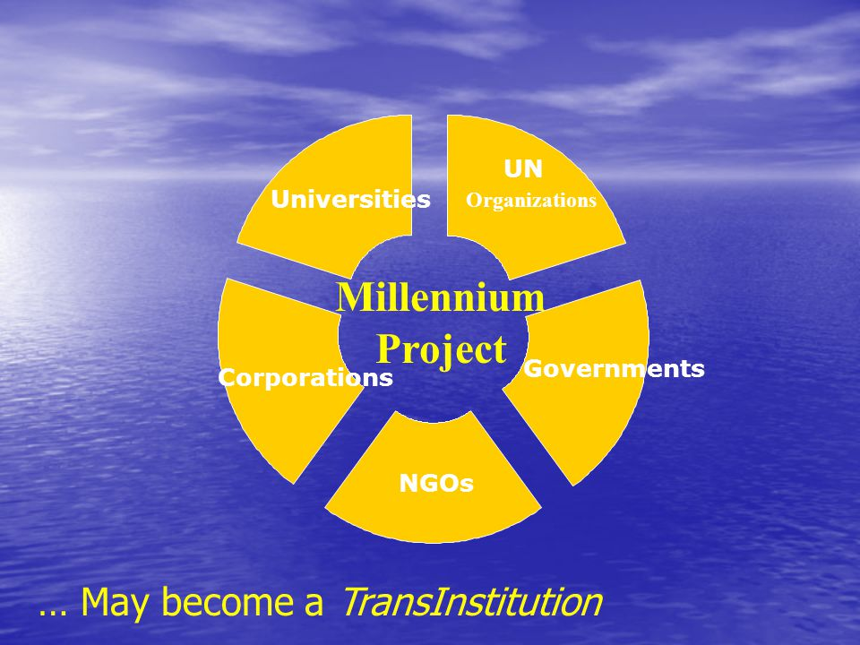 Millennium Project … May become a TransInstitution UN Universities