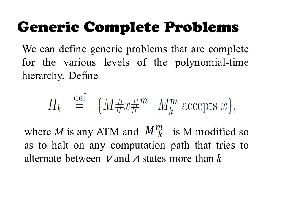 Generic Complete Problems