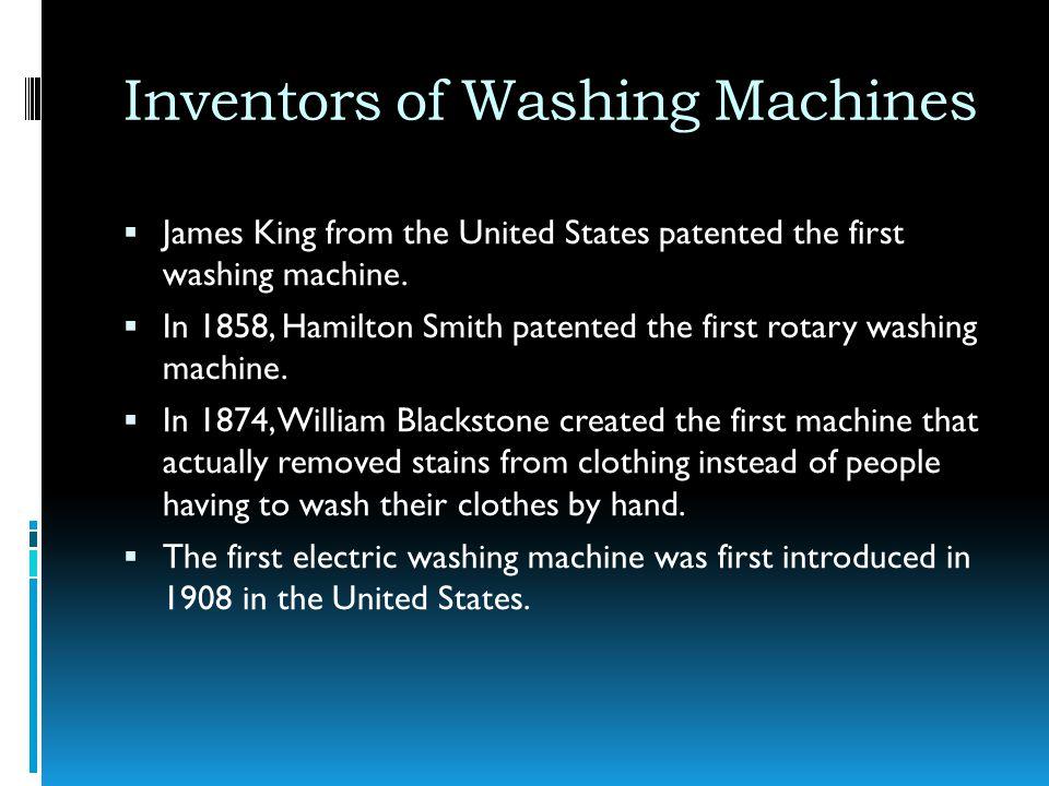 Inventors of Washing Machines