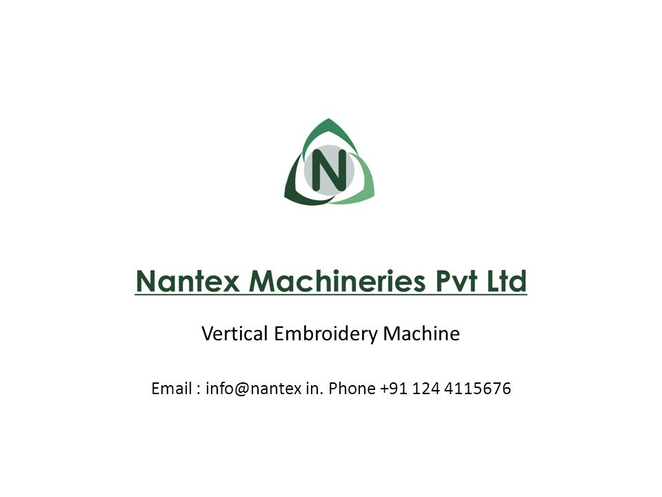Vertical Embroidery Machine