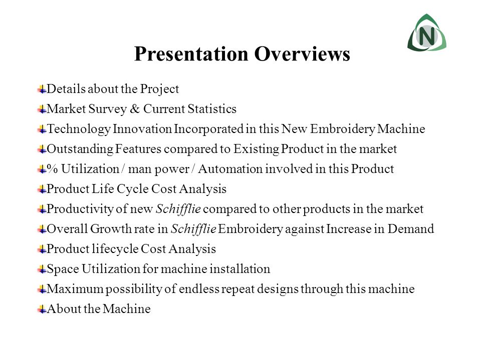 Presentation Overviews