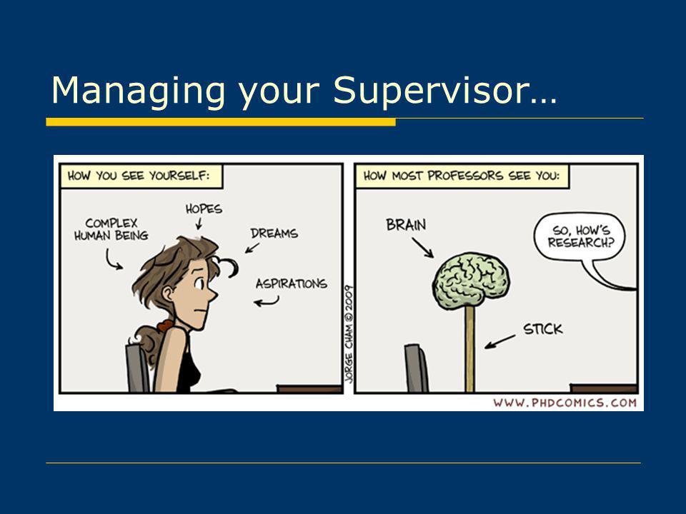 Managing your Supervisor…
