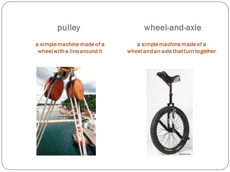 pulley wheel-and-axle