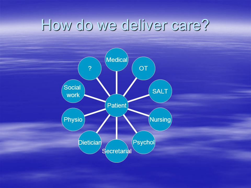 How do we deliver care