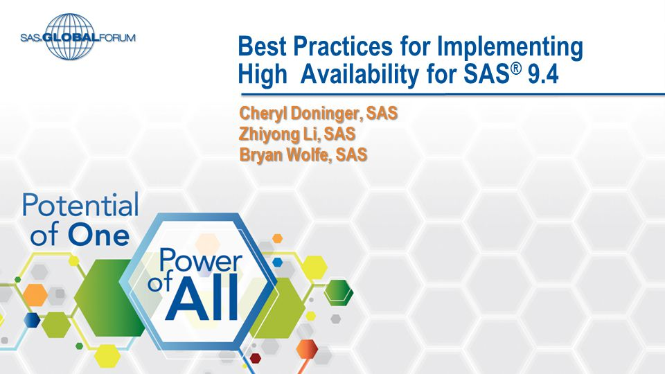 Best Practices for Implementing High Availability for SAS® 9.4
