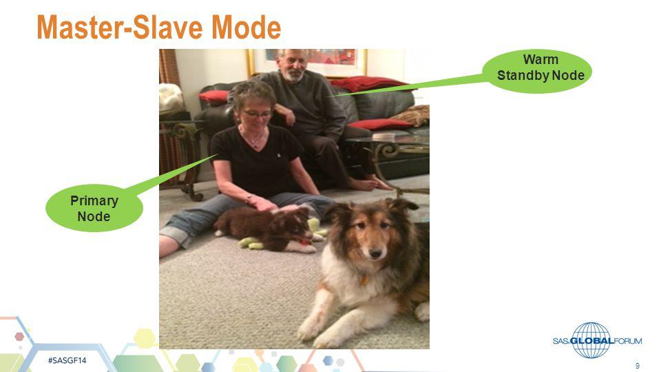 Master-Slave Mode Warm Standby Node Primary Node #SASGF13