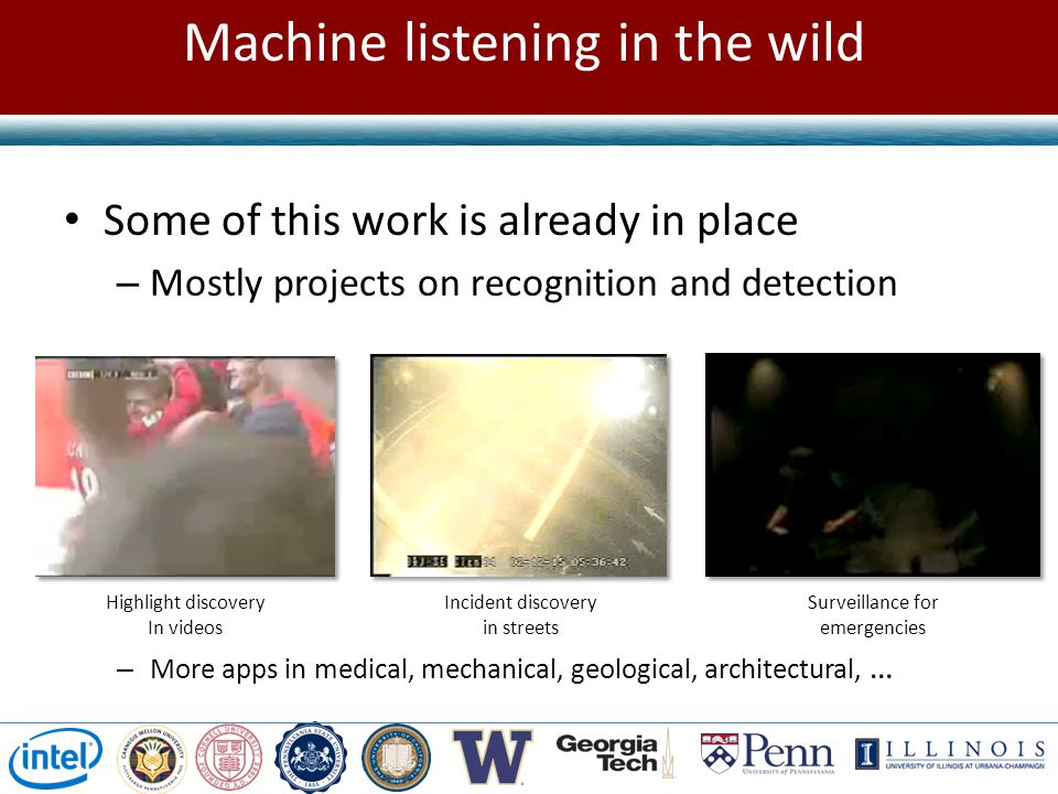 Machine listening in the wild