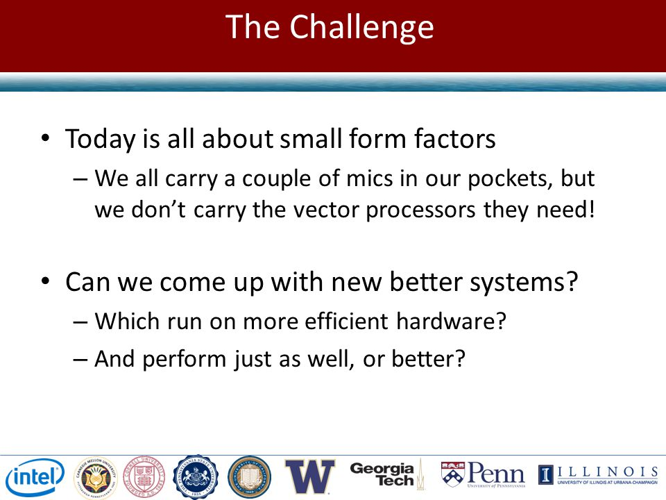The Challenge Today is all about small form factors