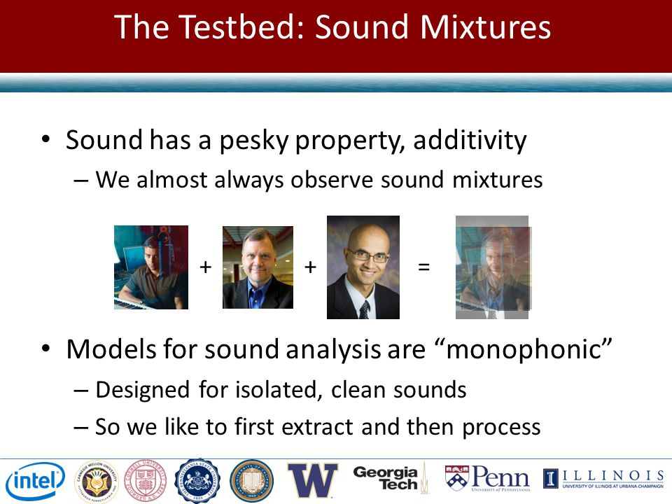 The Testbed: Sound Mixtures