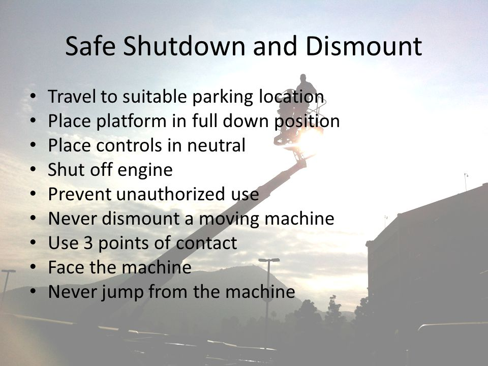 Safe Shutdown and Dismount