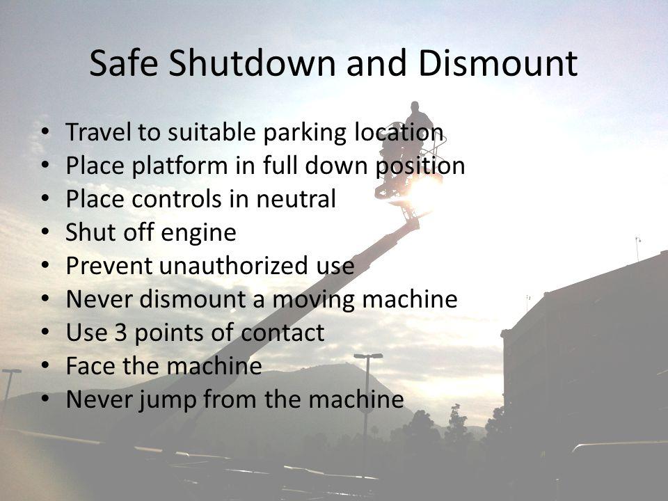 Safe Shutdown and Dismount