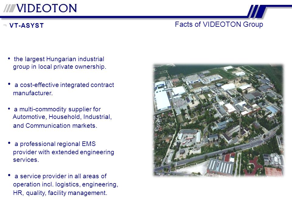 Facts of VIDEOTON Group