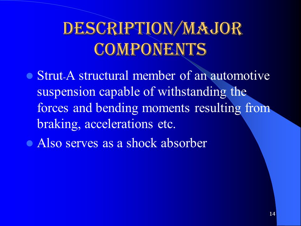 Description/Major Components