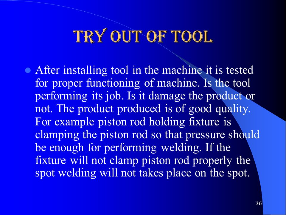 Try out of Tool