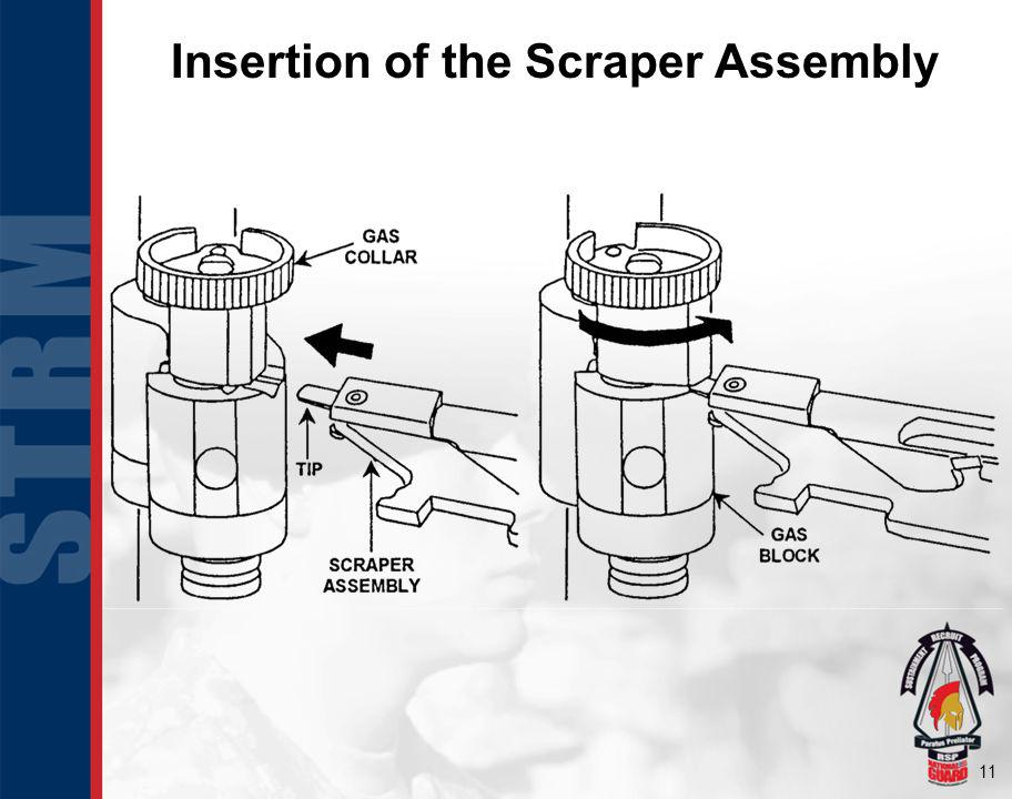 Insertion of the Scraper Assembly
