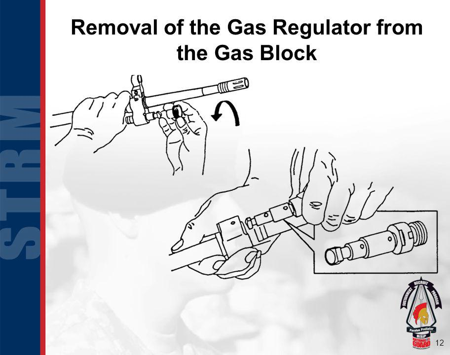 Removal of the Gas Regulator from the Gas Block