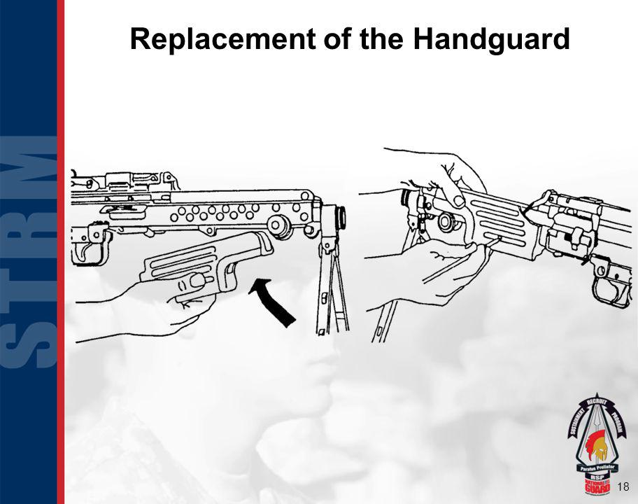 Replacement of the Handguard
