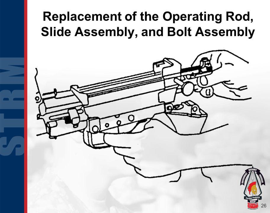 Replacement of the Operating Rod, Slide Assembly, and Bolt Assembly