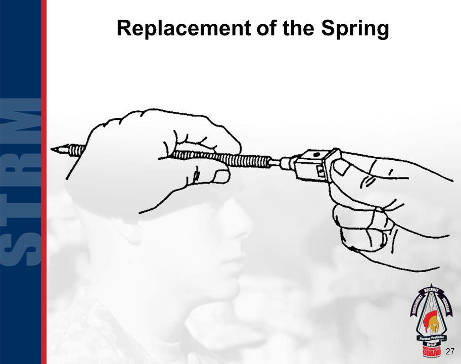 Replacement of the Spring