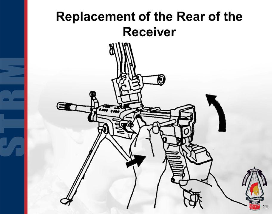 Replacement of the Rear of the Receiver