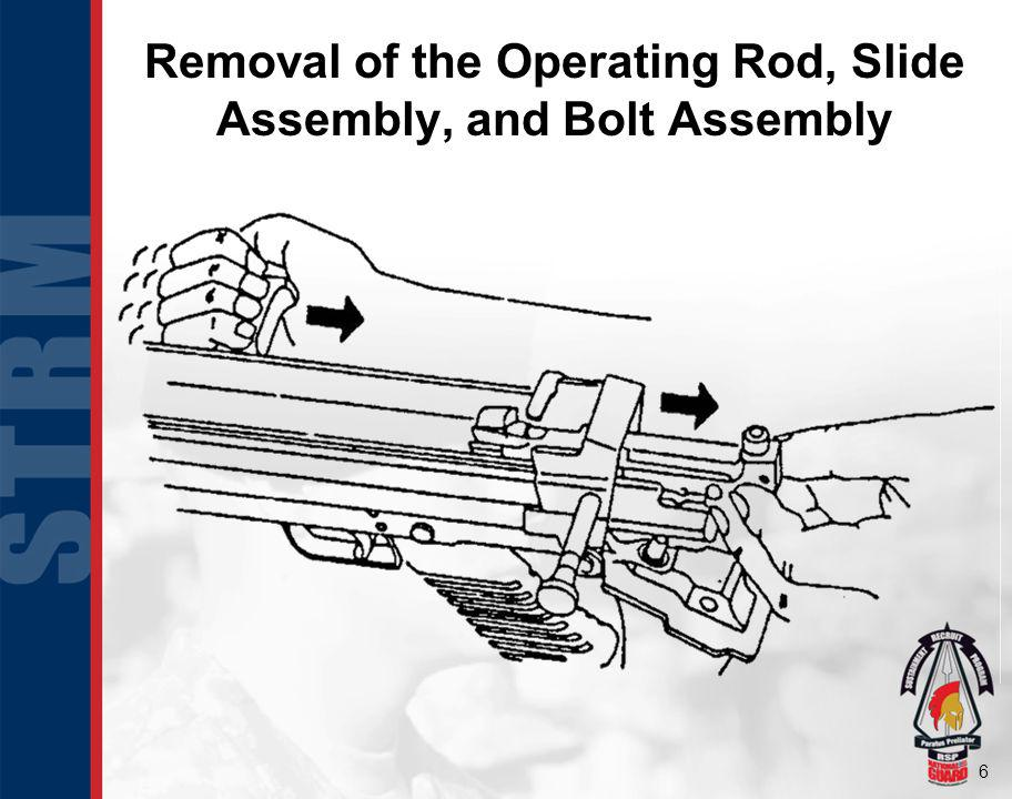 Removal of the Operating Rod, Slide Assembly, and Bolt Assembly