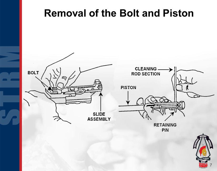 Removal of the Bolt and Piston