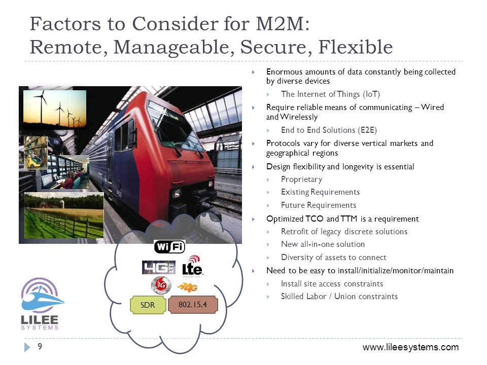 Factors to Consider for M2M: Remote, Manageable, Secure, Flexible