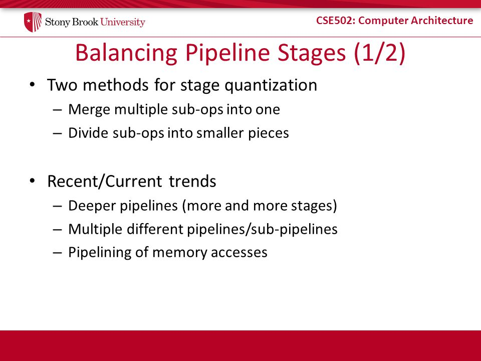 Balancing Pipeline Stages (1/2)
