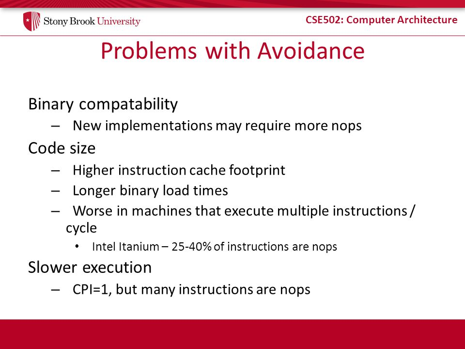 Problems with Avoidance