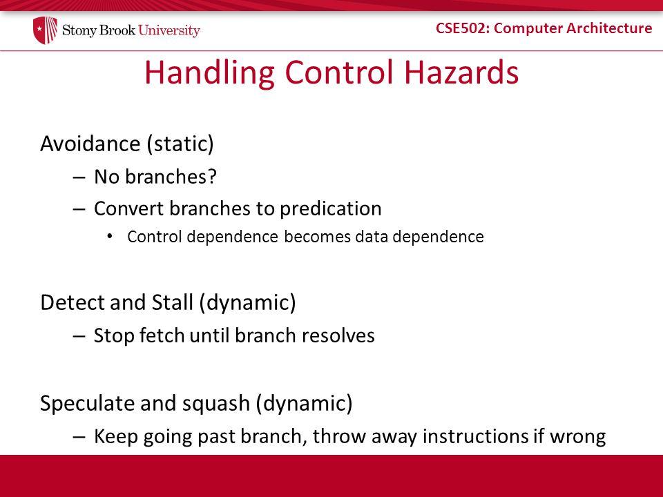 Handling Control Hazards