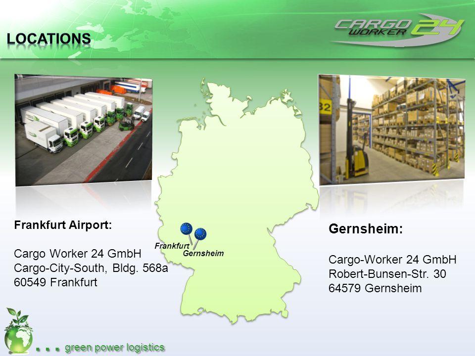 Locations Gernsheim: Frankfurt Airport: