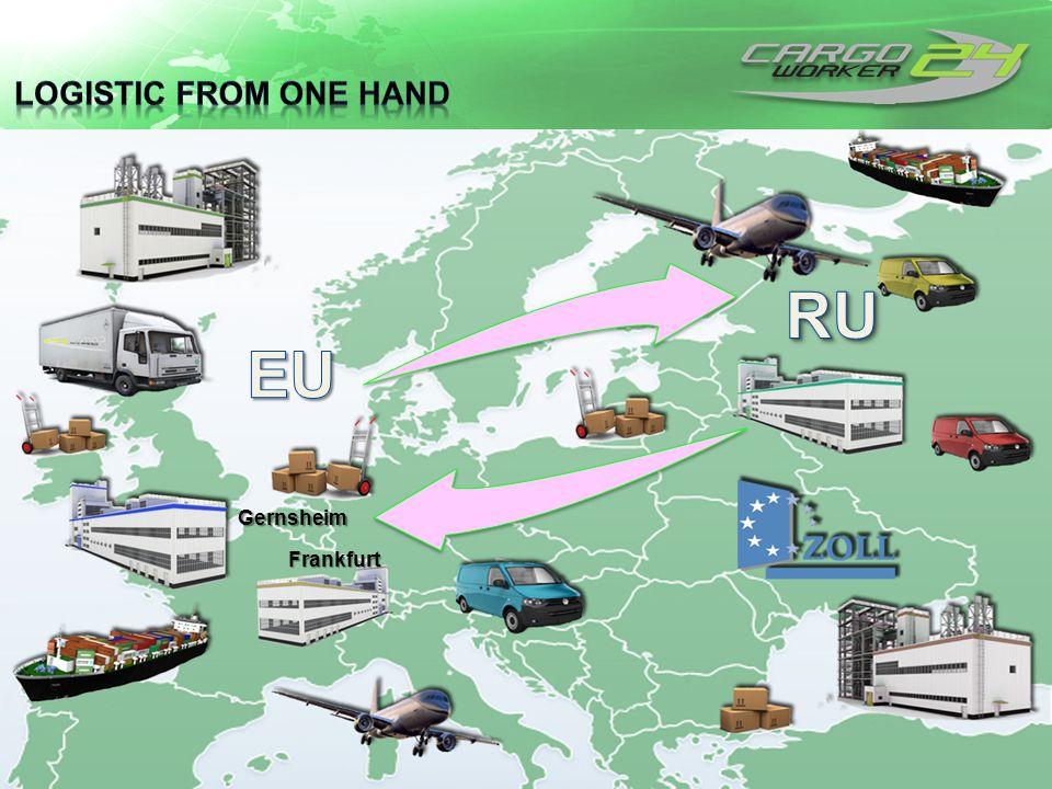 Logistic from one Hand RU EU Gernsheim Frankfurt