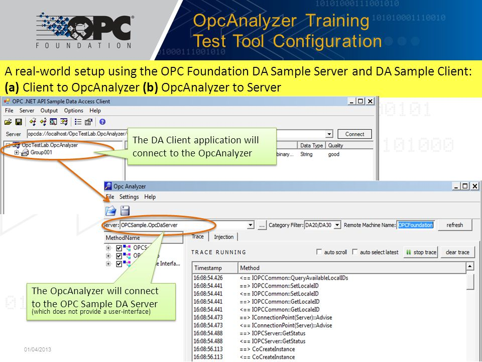 OpcAnalyzer Training Test Tool Configuration
