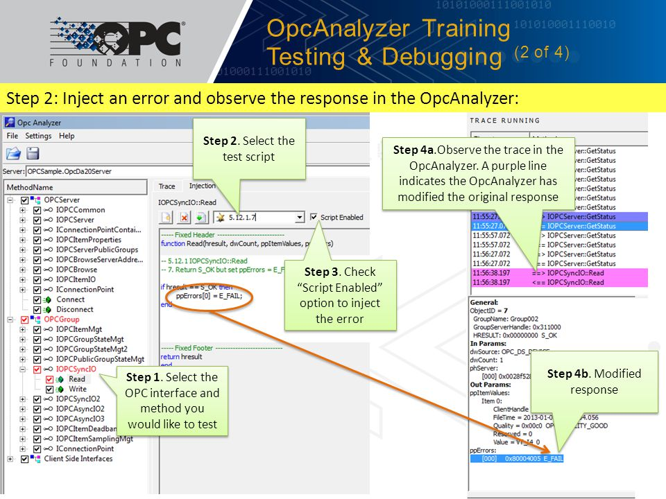 OpcAnalyzer Training Testing & Debugging (2 of 4)