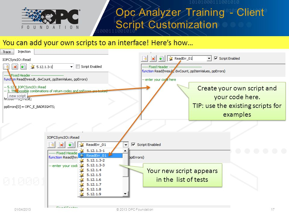 Opc Analyzer Training - Client Script Customization