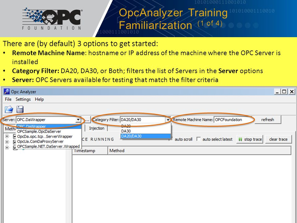 OpcAnalyzer Training Familiarization (1 of 4)