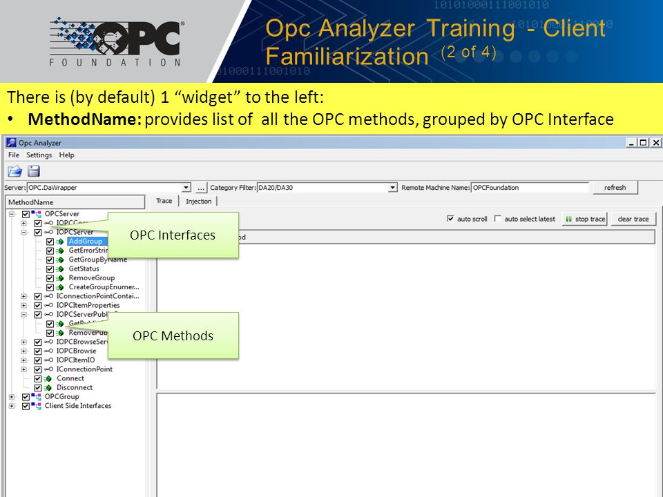Opc Analyzer Training - Client Familiarization (2 of 4)