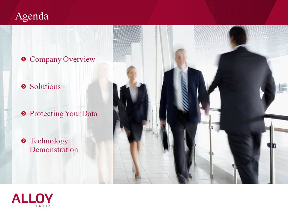 Agenda Company Overview Solutions Protecting Your Data