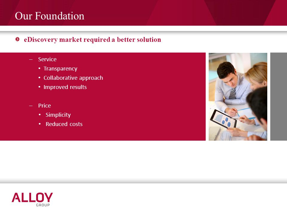 Our Foundation eDiscovery market required a better solution Service