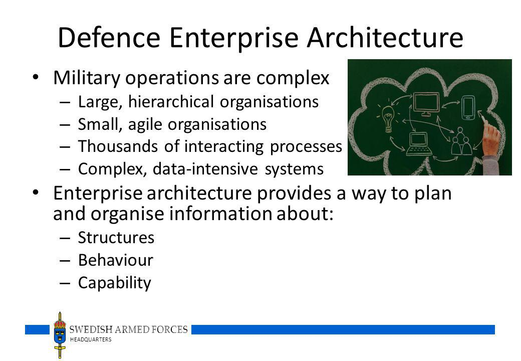 Defence Enterprise Architecture