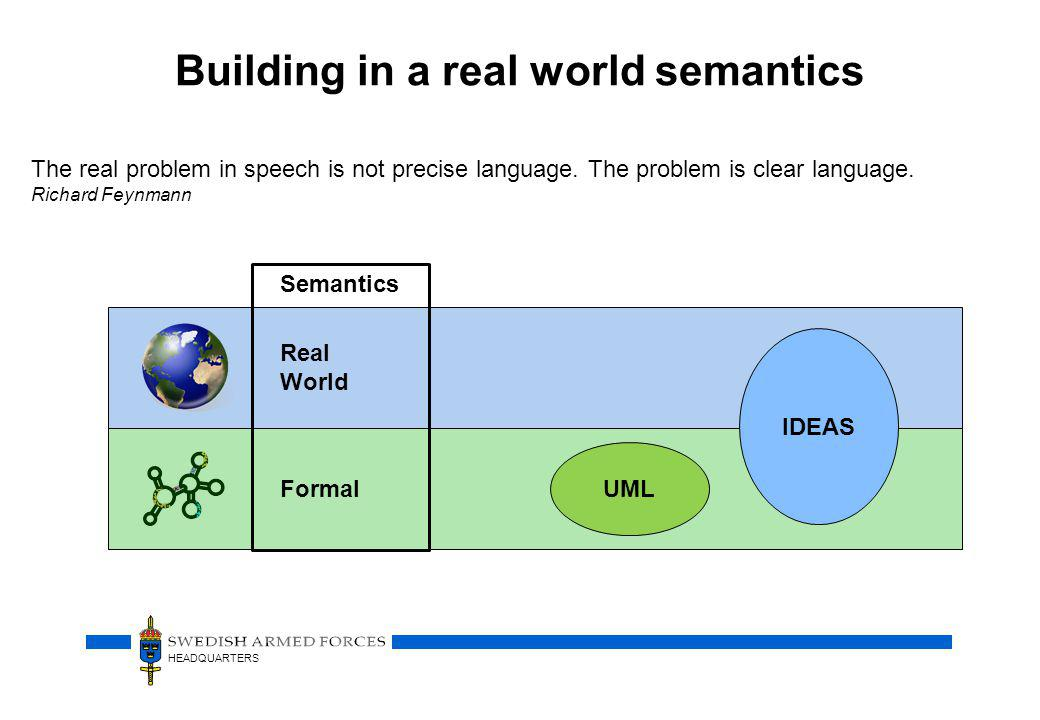 Building in a real world semantics