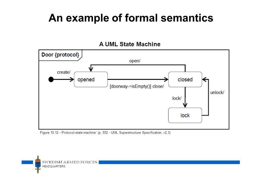 An example of formal semantics