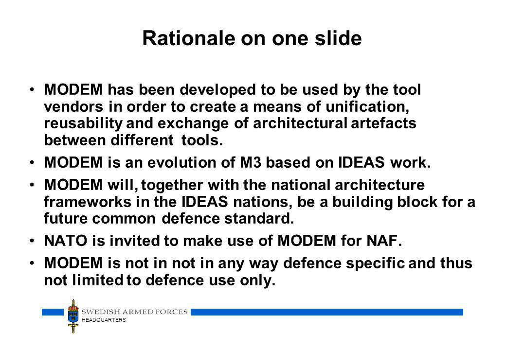 Rationale on one slide