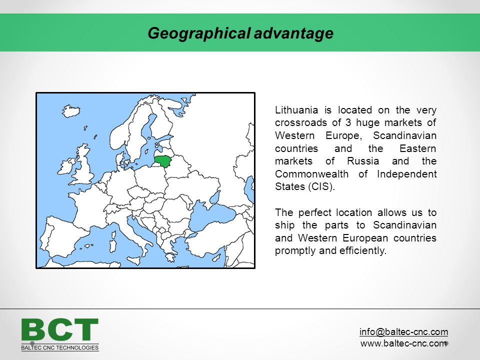 Geographical advantage