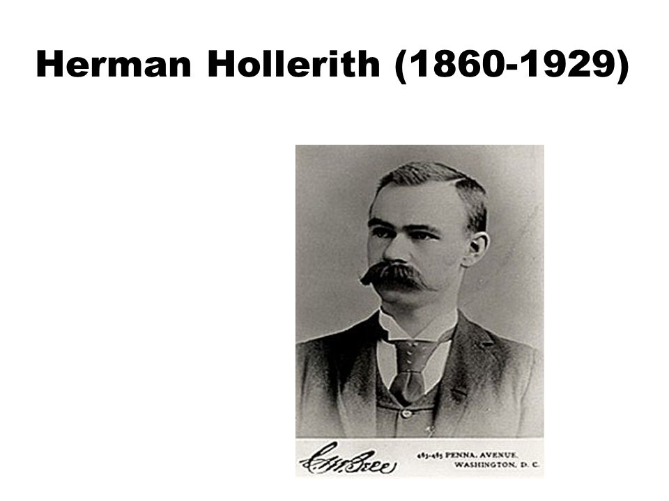 Herman Hollerith (1860-1929)