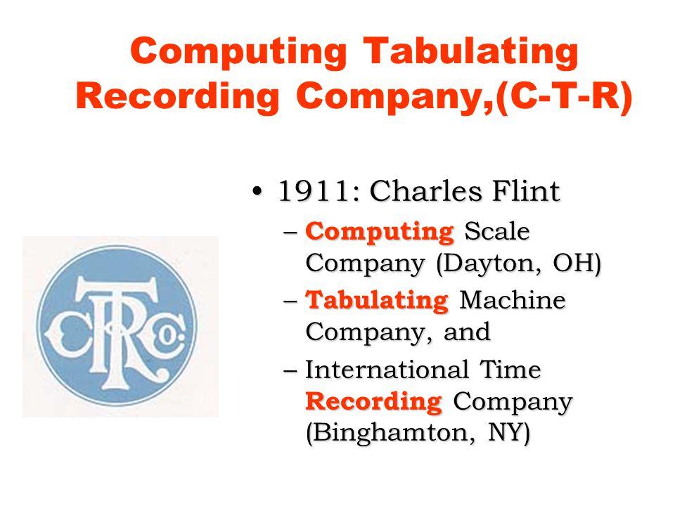 Computing Tabulating Recording Company,(C-T-R)