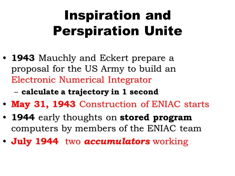Inspiration and Perspiration Unite