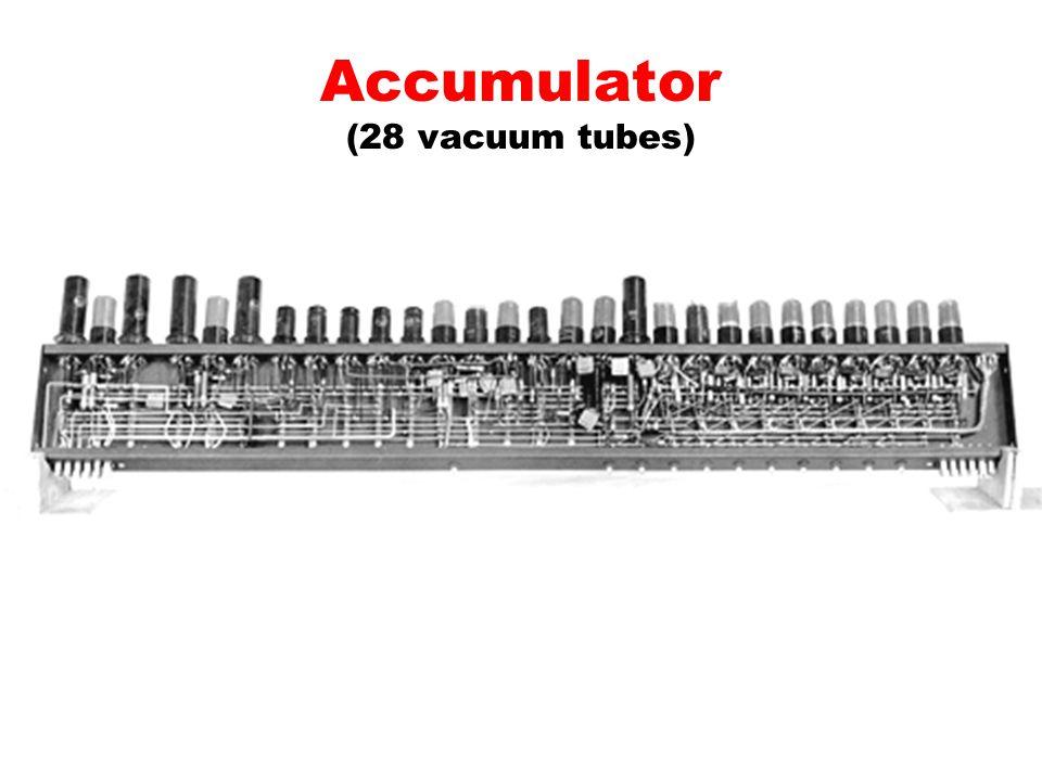 Accumulator (28 vacuum tubes)
