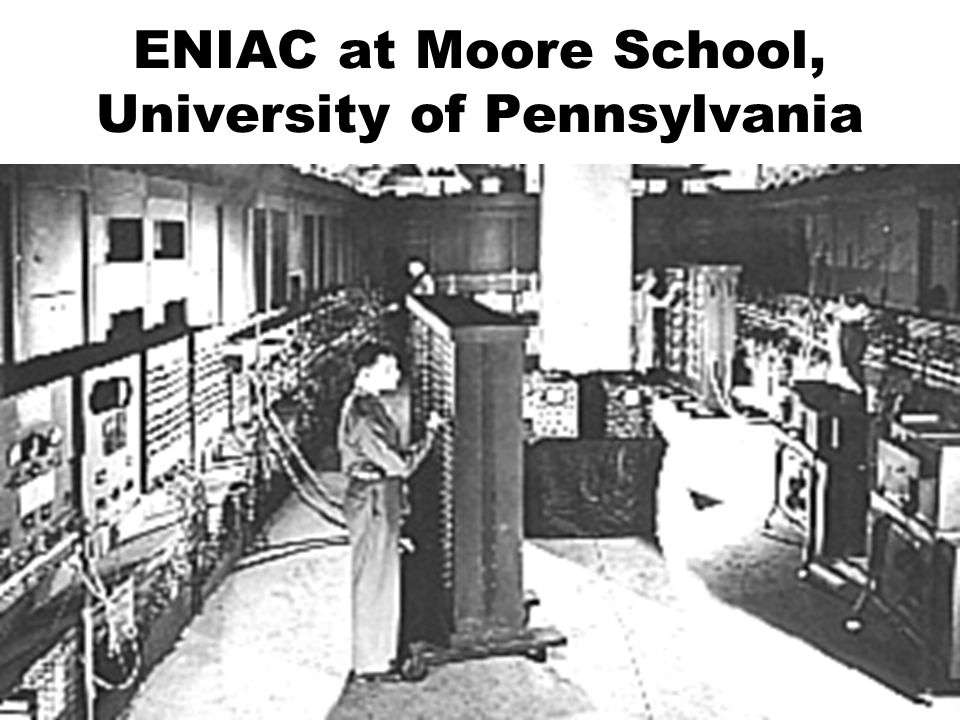 ENIAC at Moore School, University of Pennsylvania