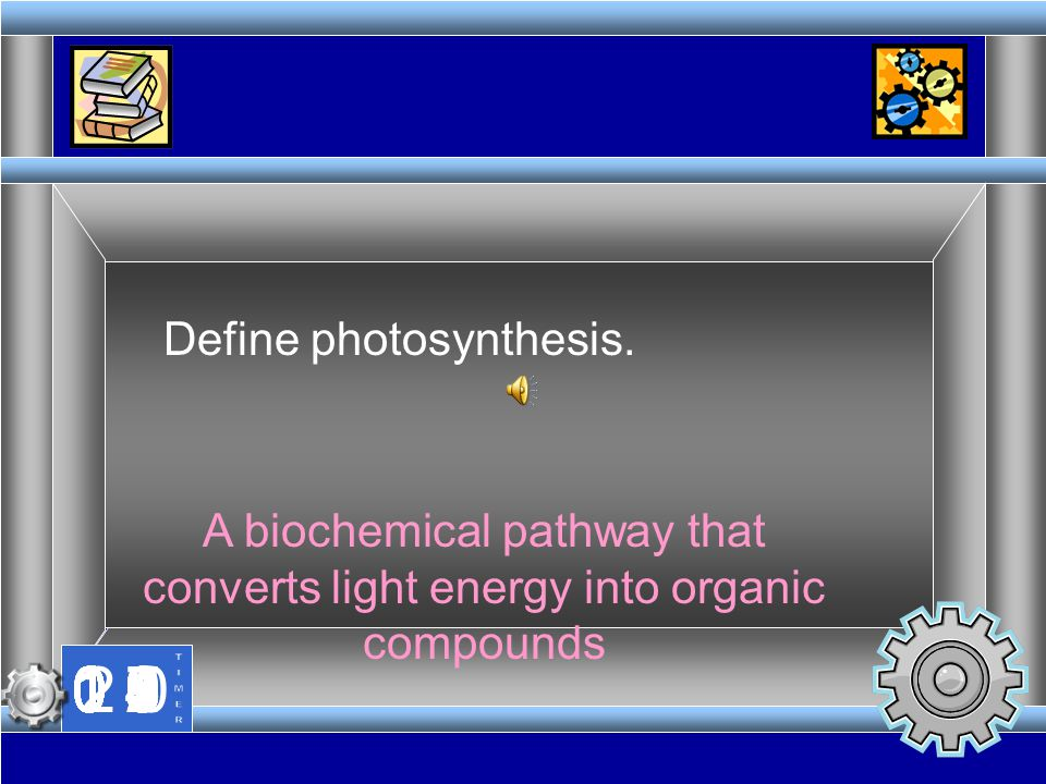 Define photosynthesis.